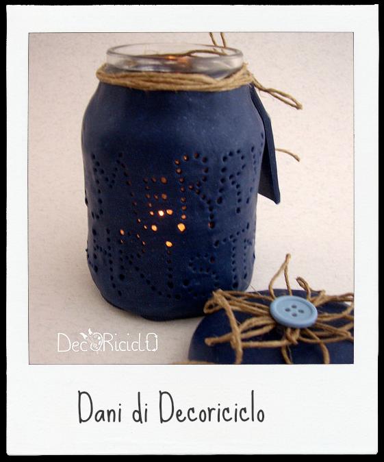 http://decoriciclo.blogspot.it/2014/11/lanterna-riciclosa-vetro-e-pasta-modellabile.html