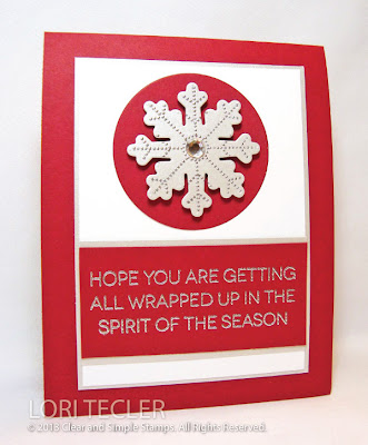 Wrapped up in the Spirit of the Season-designed by Lori Tecler-Inking Aloud-stamps and dies from Clear and Simple Stamps