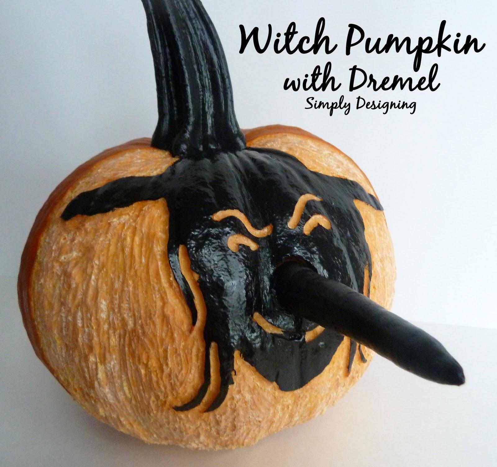 Witch pumpkin using a dremel