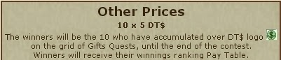 Gift Quest other prizes