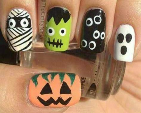 Manualidades decoraci n de u as para halloween - Como decorar halloween ...