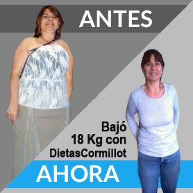 perder 18 kilos plan cormillot antes despues