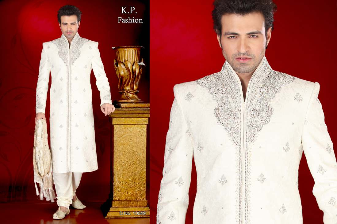 Wedding Wear For Mens : Wedding wear ethnic sherwani for men in india by k p