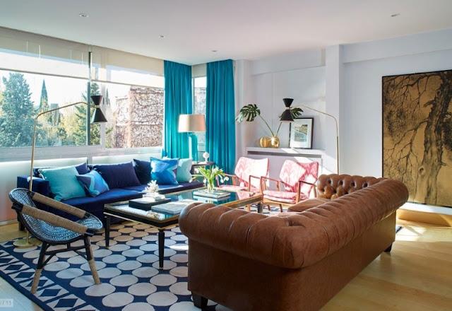 casa vintage y colorista