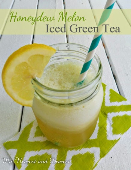 Iced Green Tea with Honeydew Melon @ My Nearest and Dearest
