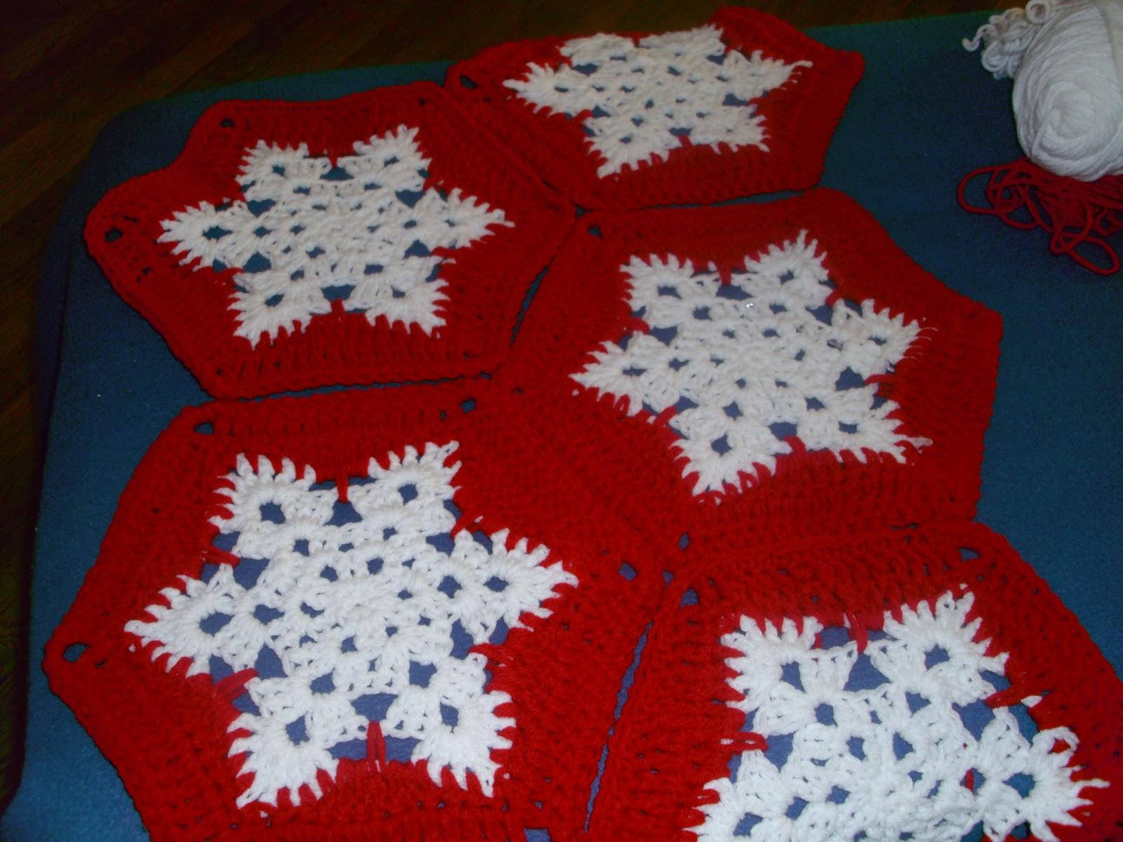 Free Crochet Pattern Snowflake Afghan : Im a YaYa!: Snowflake afghan completed...