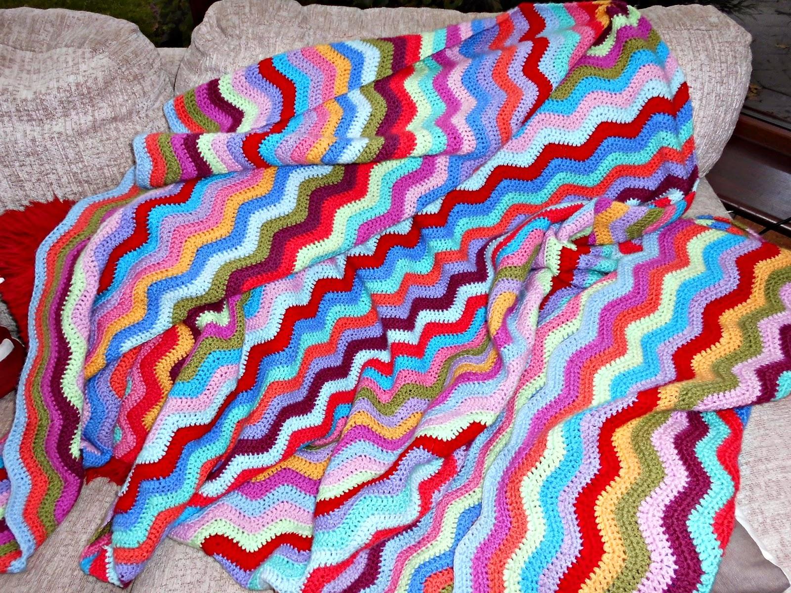 Winwick Mum: Ripple blanket edging