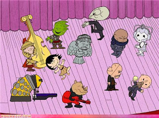 Dr Who villians in Peanuts style