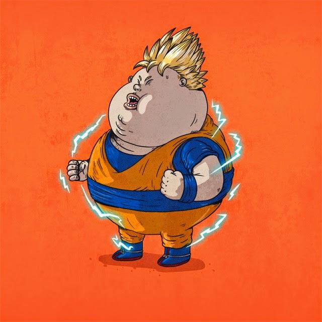 Caricaturas de Superheroes GORDOS - Imagenes PNG
