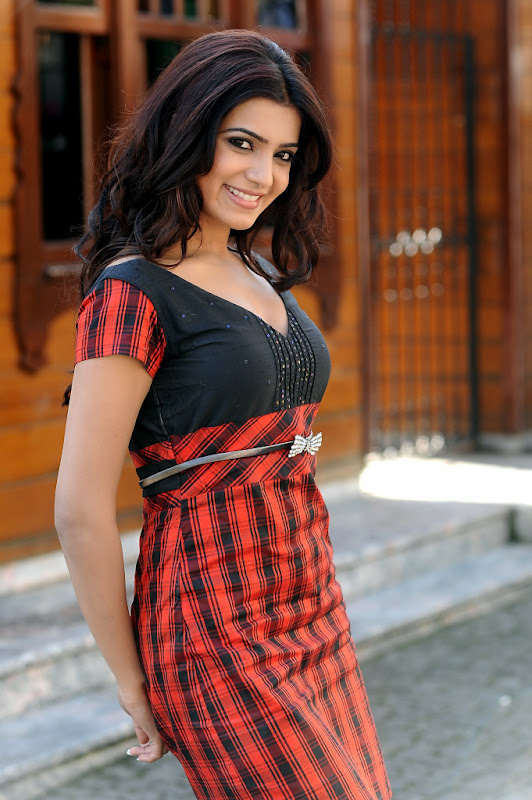 Samantha in red dress - Samantha Latest Hot Pics - Western - March 2012