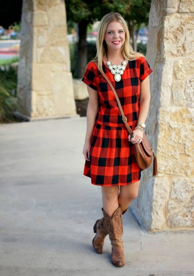Buffalo check taran plaid drop waist dress from Old Navy