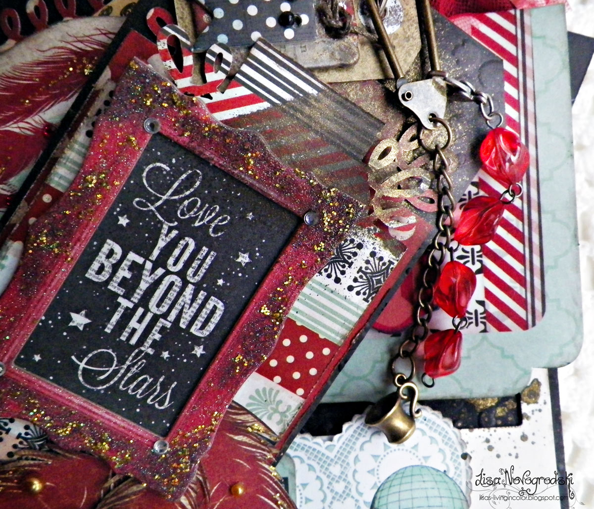 Tag Mini Album by Lisa Novogrodski using Star Crossed By BoBunny  close up Love You Beyond The Stars