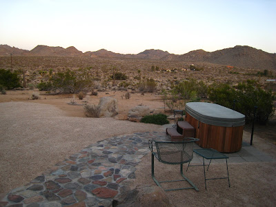 Hot Tub at Rock Haven Cabin Joshua Tree National Park California