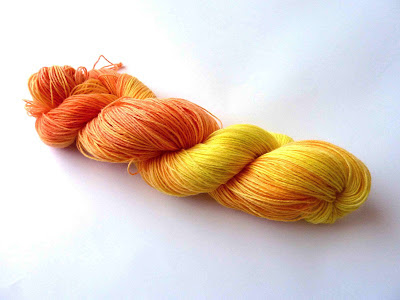 My hand dyed yarn
