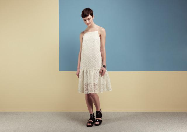 cream daisy print dress, cream full hem dress,