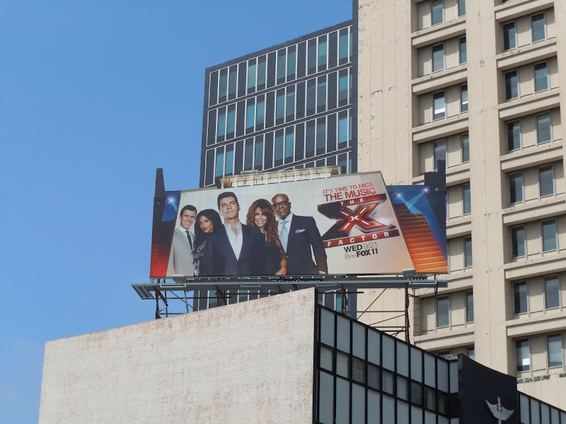 The X Factor USA TV billboard