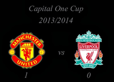 Manchester United vs Liverpool Capital One Cup Result 2013