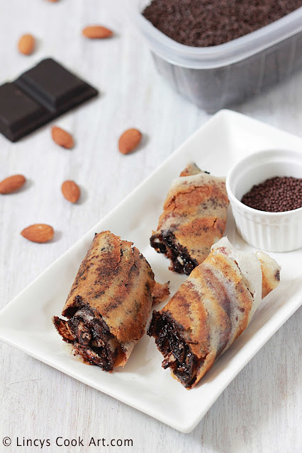 Cocolate and Nuts Dosa