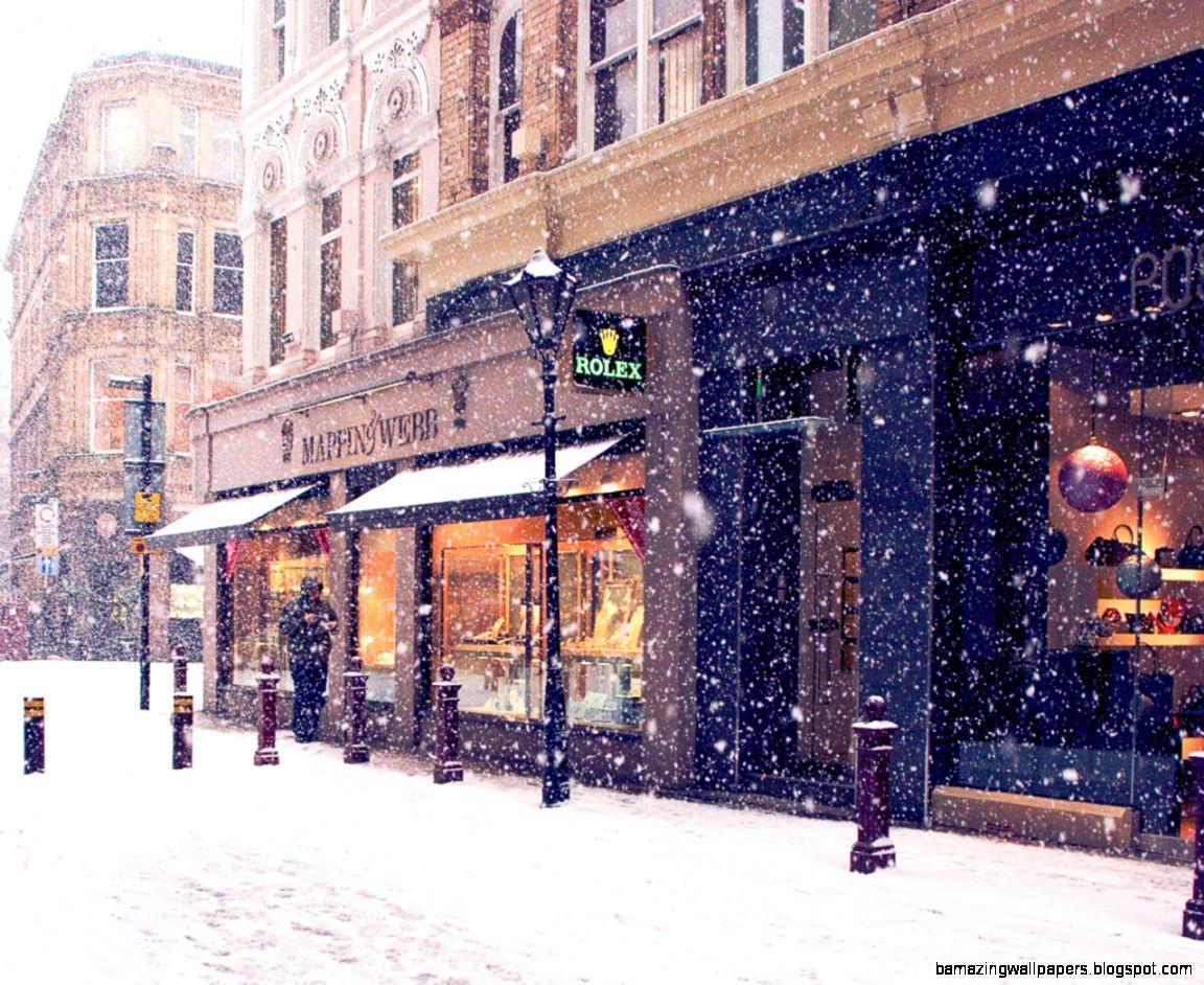 Download Wallpaper 1280x1024 City Winter Europe Street Snow