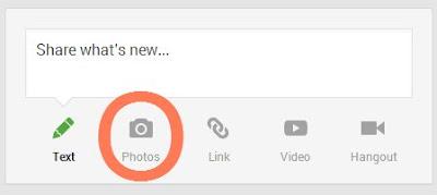 Crear entrada con foto en google+