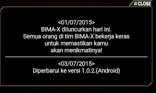 janji update game bima x