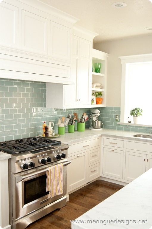 what do you think of blue glass subway tiles