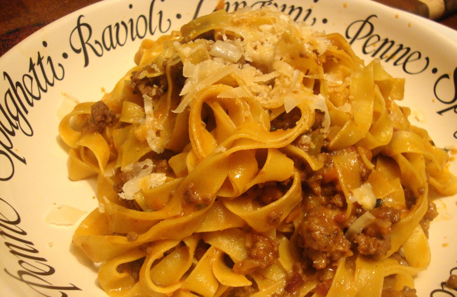 """I Can't Believe It's Not Meat"" Ragu Over Tagliatelle ..."