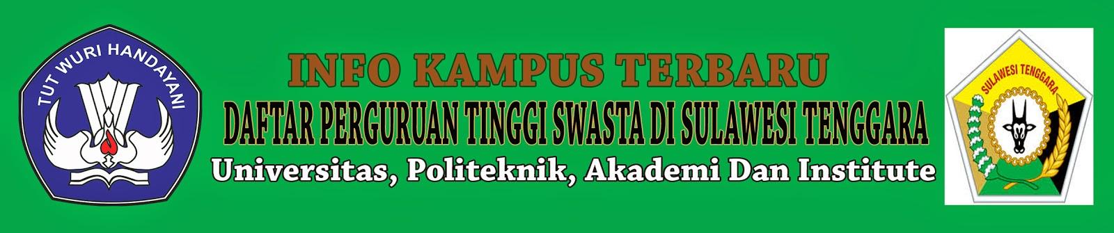 Daftar Perguruan Tinggi Swasta Di Sulawesi Tenggara