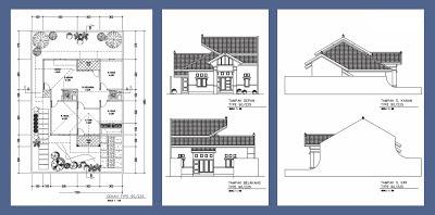 denah rumah type 90/225 | desain rumah terbaru