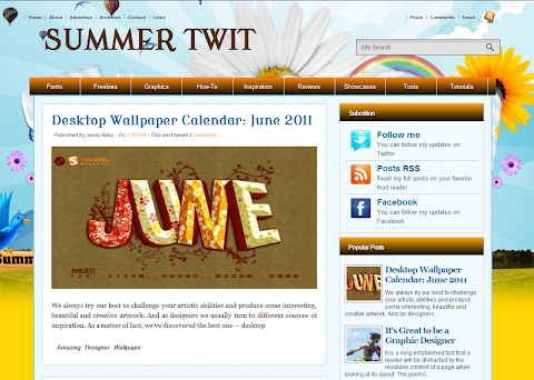 Summer Twit Blogger Theme
