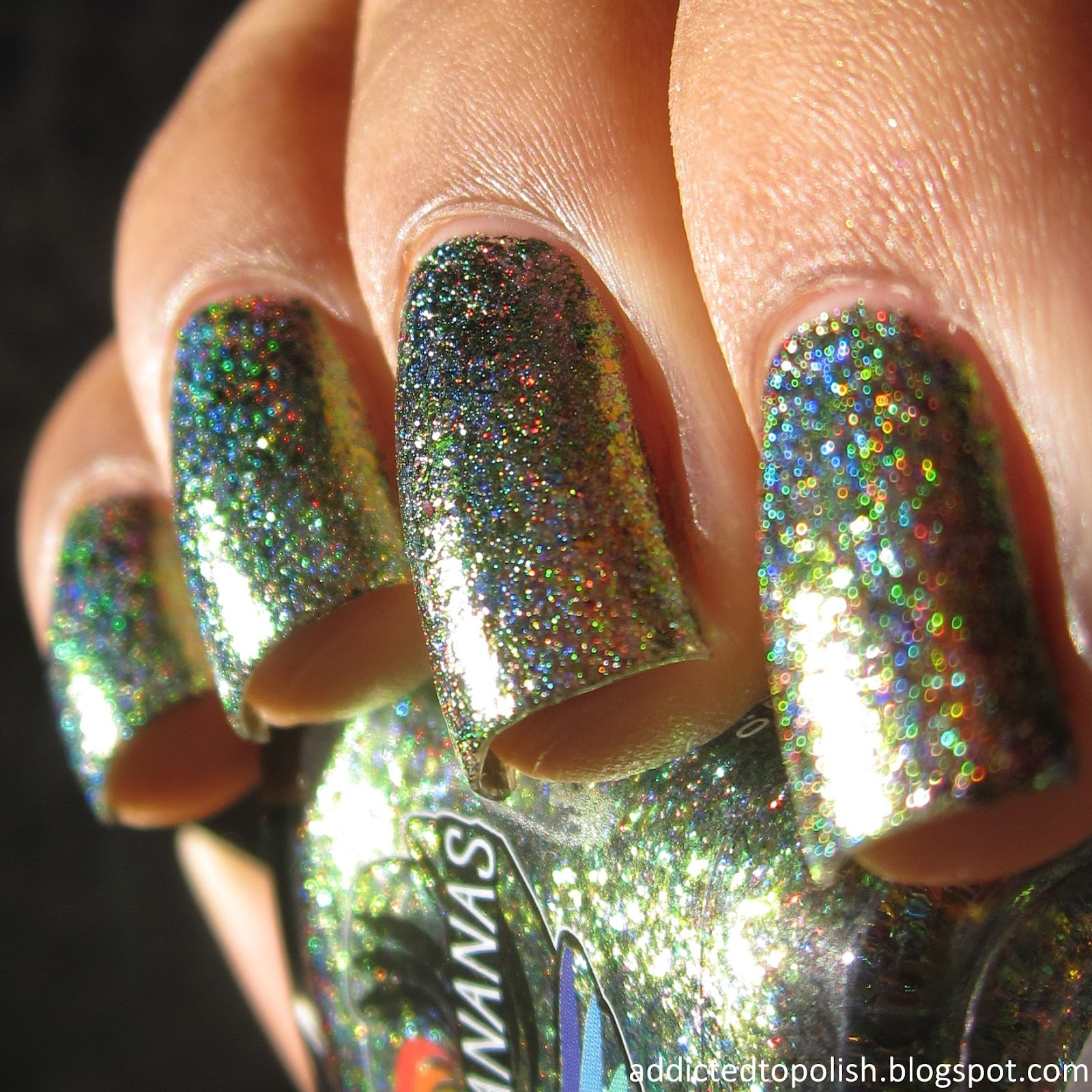 Indigo Bananas Accretion Disk Holo Chrome Flakies