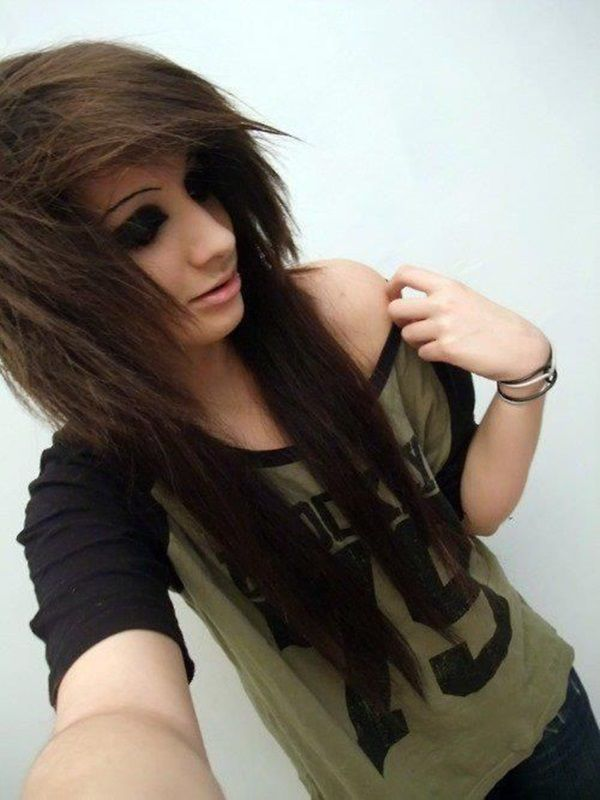 Emo Long Layered Hairstyles Emo Lon hair color trend