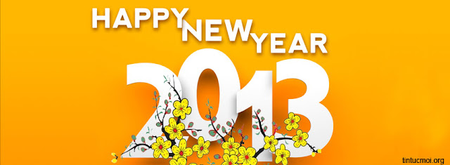 Ảnh bìa happy new year 2013
