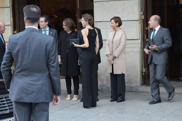 King Felipe of Spain and Queen Letizia of Spain attend the tribute to US filmmaker Francis Ford Coppola at the Jovellanos Theatre in Gijon