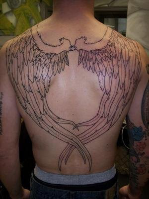 Angel Wings Tattoo Designs For Men,tattoos designs for men,tattoo designs for men,angel wing tattoos,tattoos pics,tattoos designs,angel tattoos for men