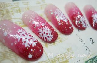 ลายเพ้นท์เล็บ เกล็ดหิมะ Christmas Snowflake