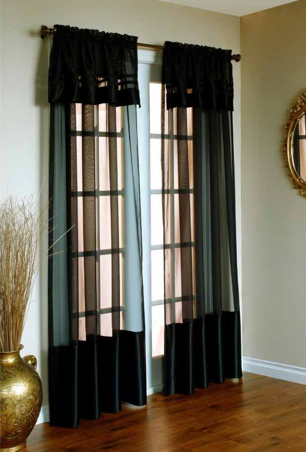 Desain Tirai Atau Gorden Rumah Untuk Pintu Kaca Geser