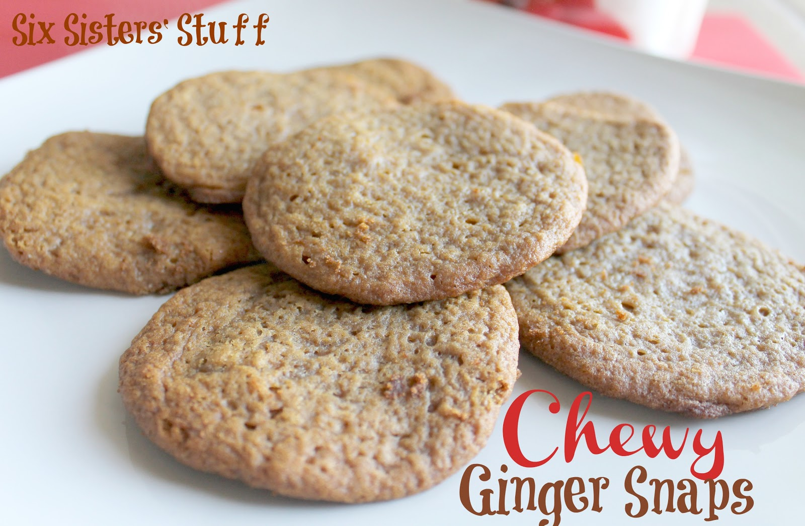 Six Sisters Cookies Ginger Snap Cookies With Truviar Baking Blend Six Sisters Stuff