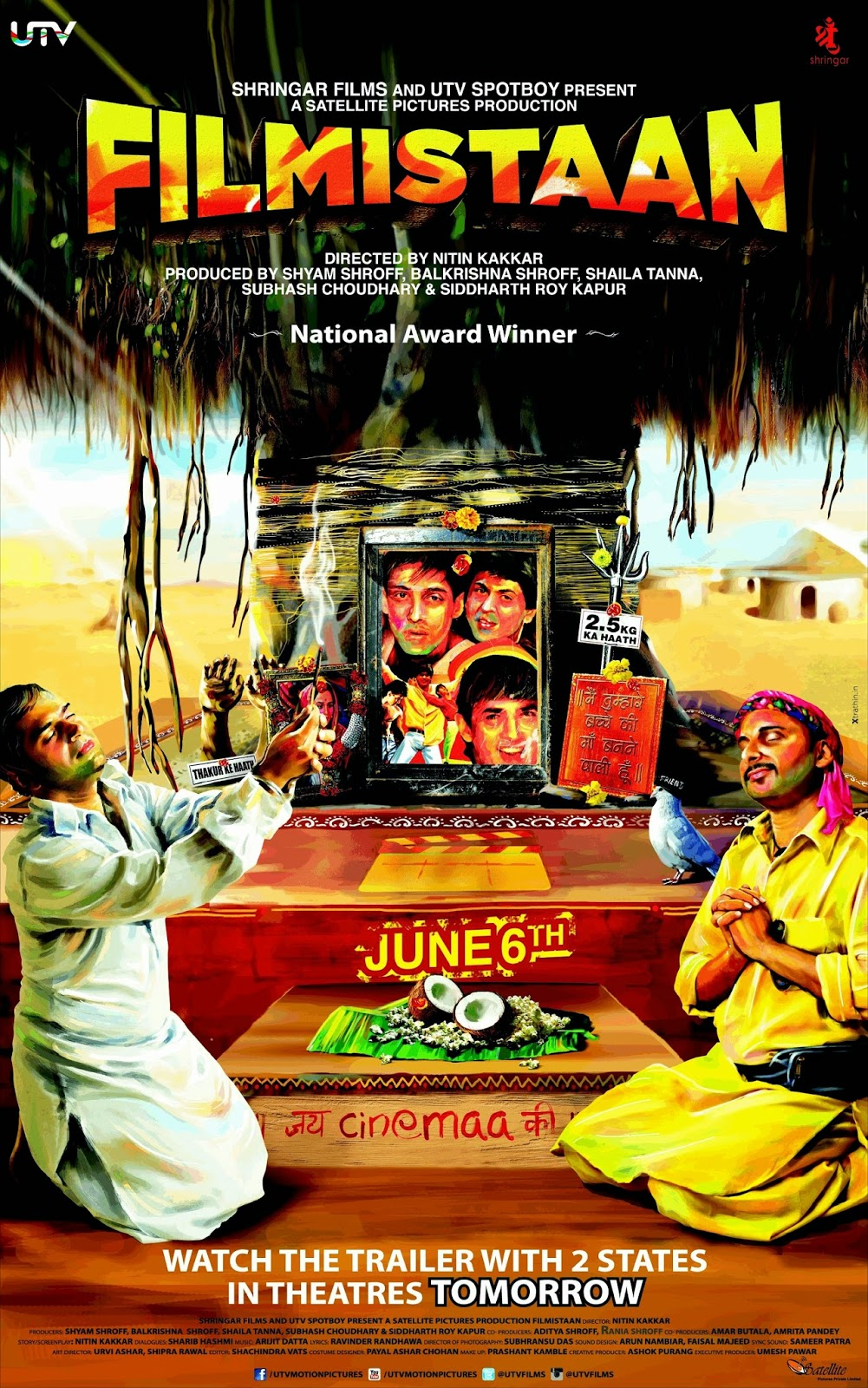 Watch Filmistaan (2014) Non Retail DVDRip Hindi Full Movie Watch Online Free Download