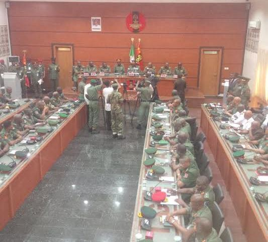 Formal COAS Minimah Hands Over to New Cheif Of Army Staff