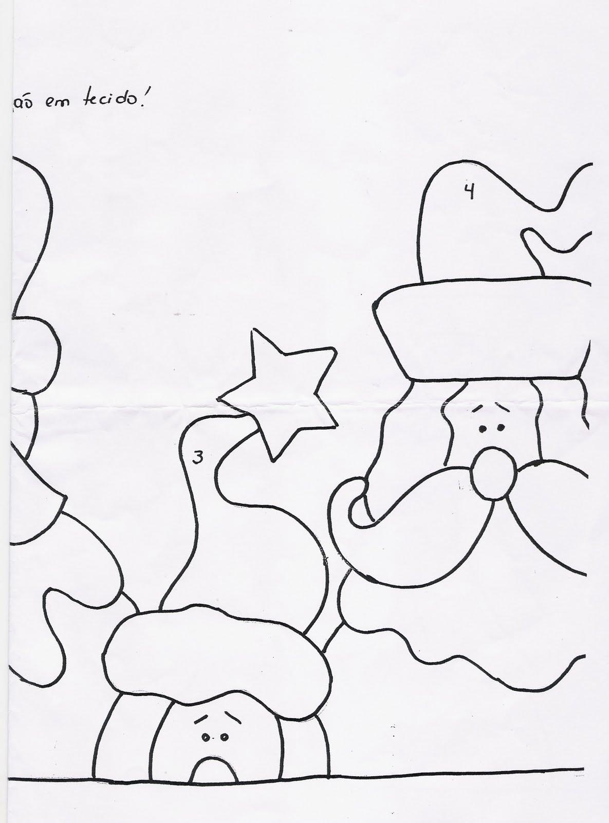 Patchcolagem De Papai Noel   Molde