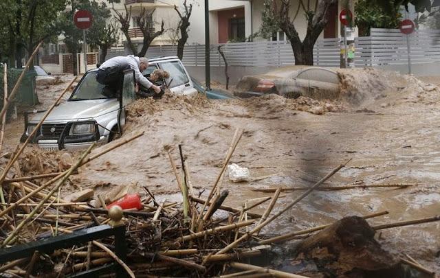 Февральское наводнение в Афинах
