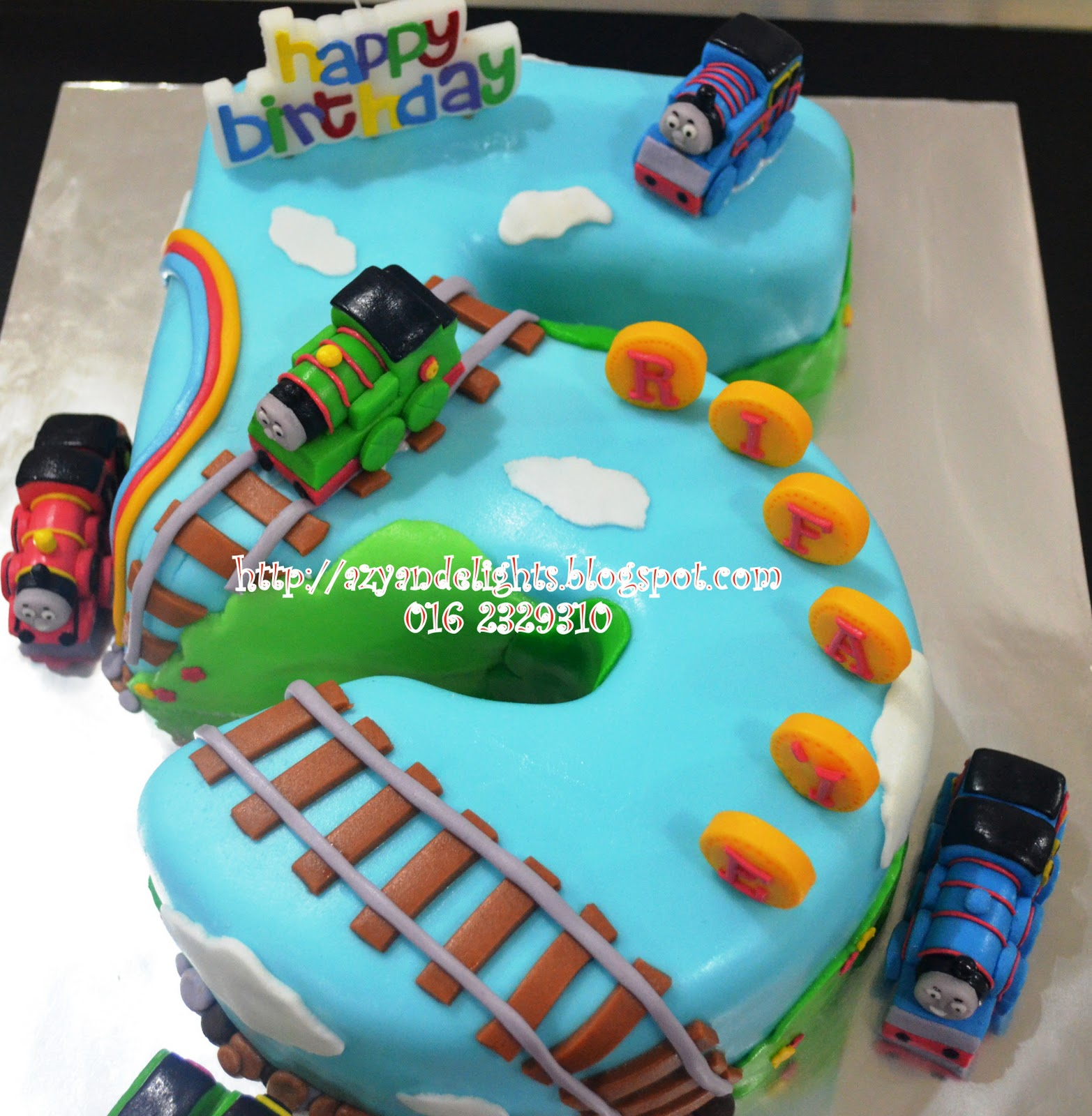 Azyandelights Number 5 Cake Thomas And Friends Cake