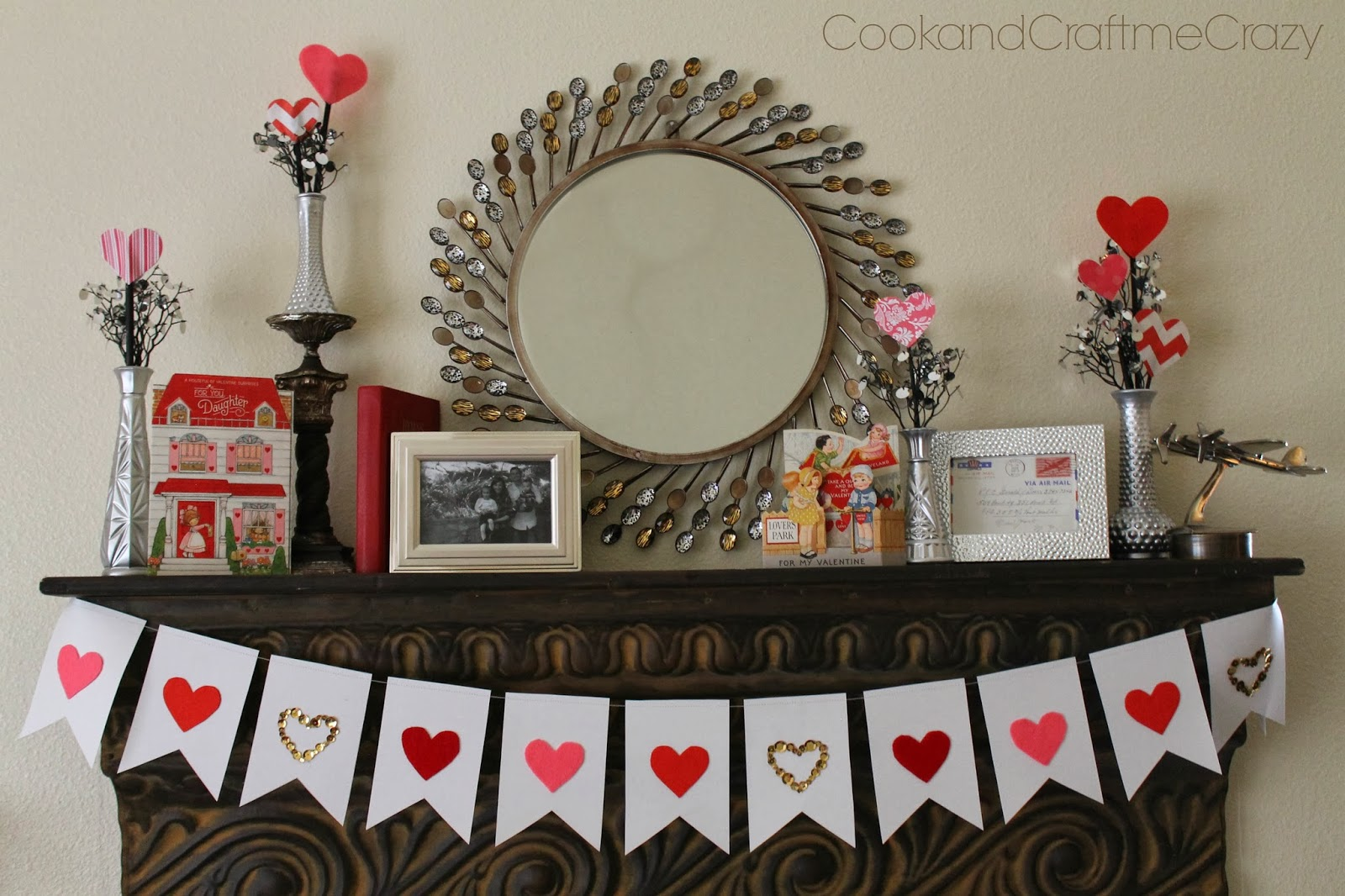 Valentine's Day Paper & Hearts Banner - Cook & Craft Me Crazy