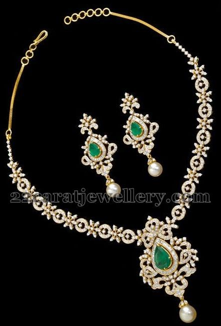 classic necklace by musaddilal jewellery designs