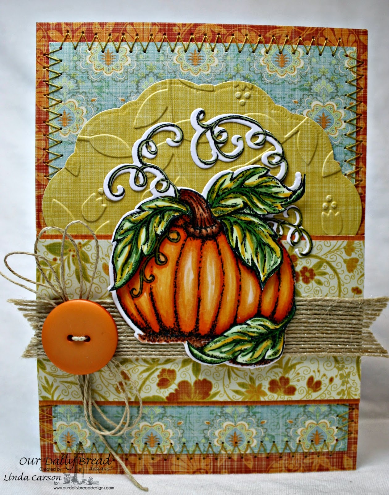 Our Daily Bread Designs, Pumpkin, Pumpkin die, Doily die, designer Linda Carson