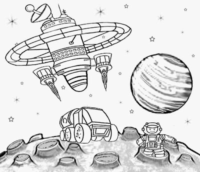 free printable space shuttle coloring pages