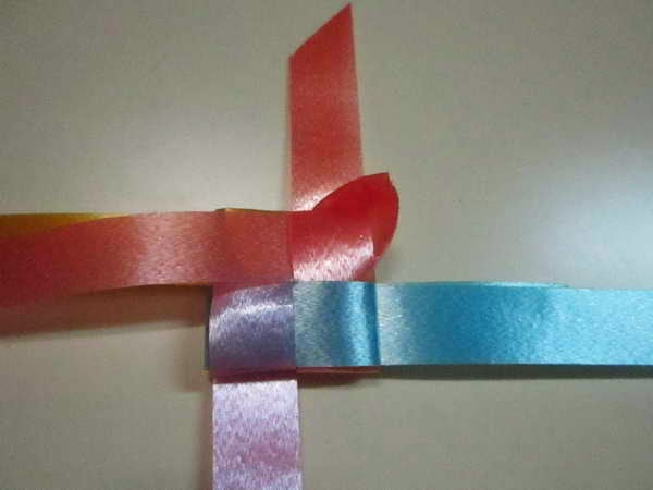diy fold weave rose ribbon decoration put coin lucky