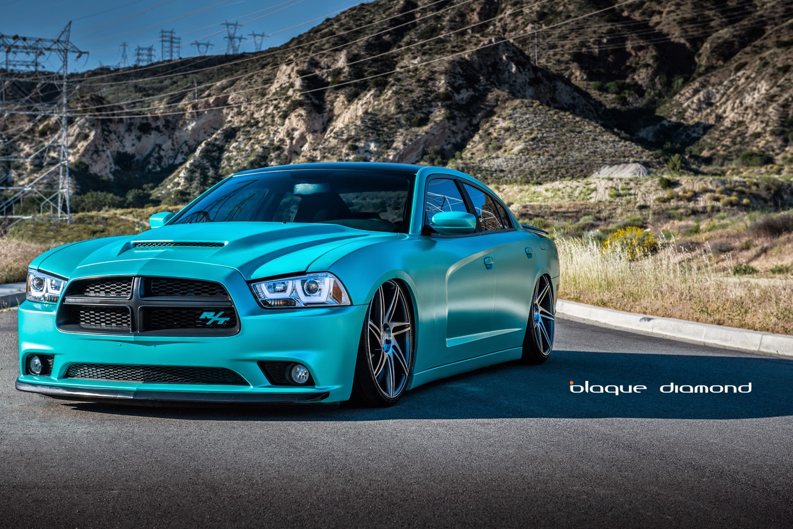 Matte Black Hellcat Charger >> 2013 Dodge Charger Daytona with 22 Inch BD-1's in Matte Graphite Machine Face