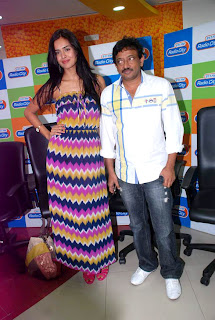 Ram Gopal Verma and Nathalia Kaur spotted at Radio City 91.1 FM for promotion